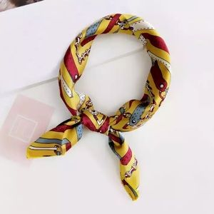 Accessories - The Bennie - Gold Patterned Neck Scarf